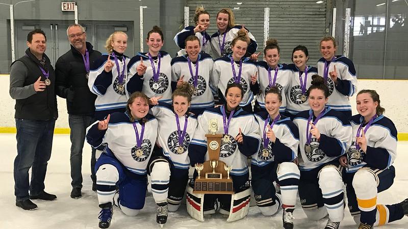 2016-17 Girls Division-II Hockey Champions: Westmount Wildcats