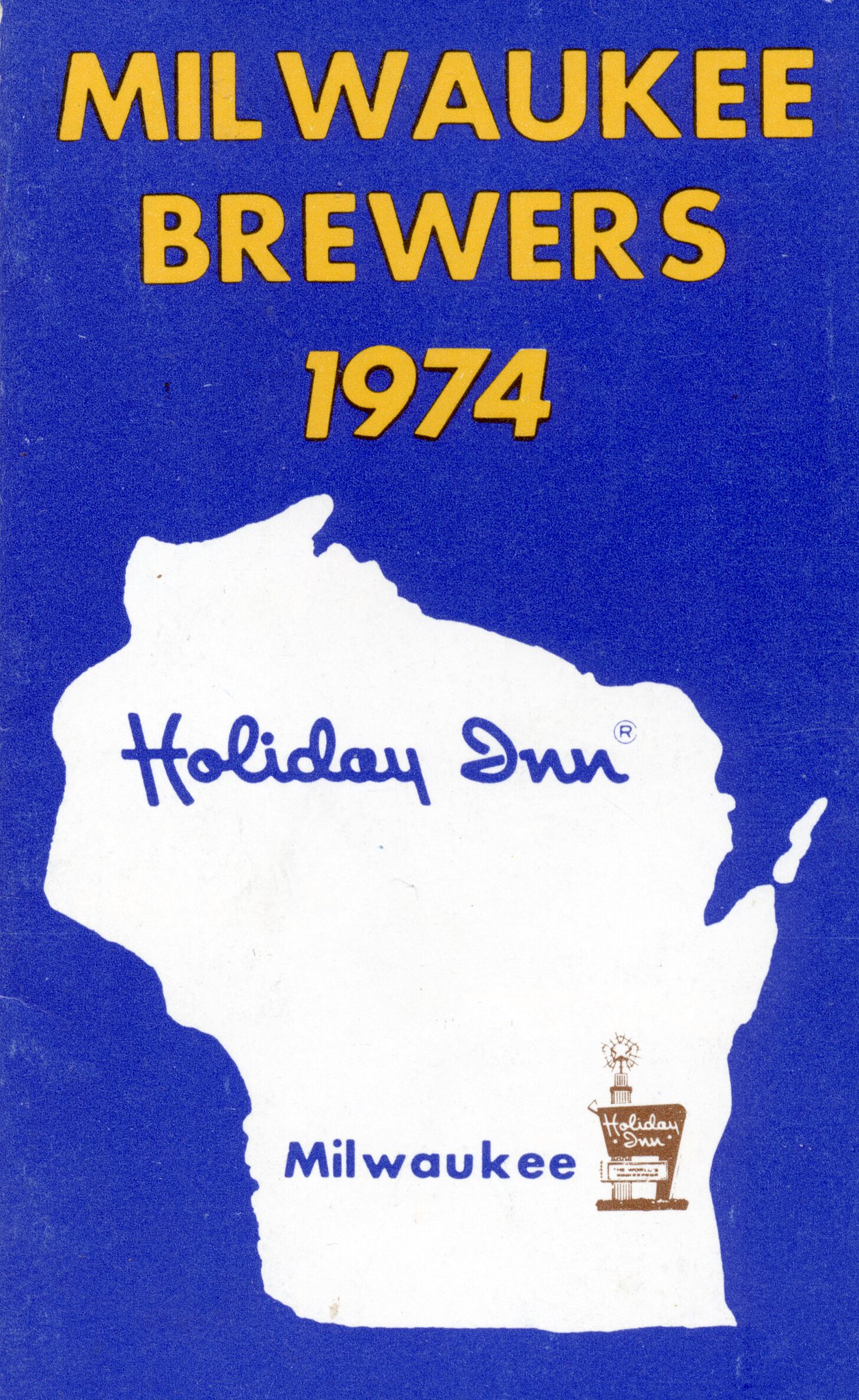 1974 Milwaukee Brewers Schedule (1)