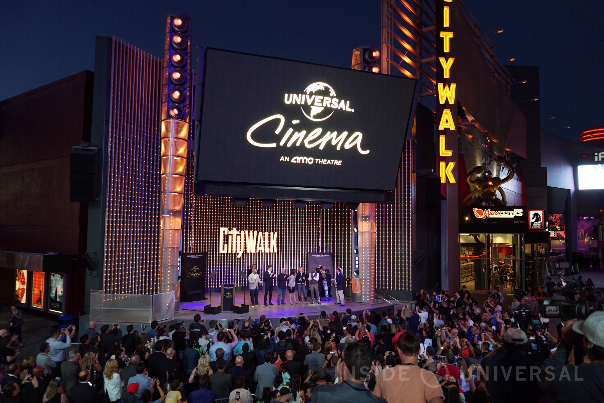 Universal Cinema opens with Steven Spielberg, Ron Meyer, Jason Blum and Jordan Peele at CityWalk Hollywood