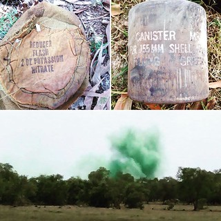 Destruction of  155mm colored smoke projectile | by Project RENEW