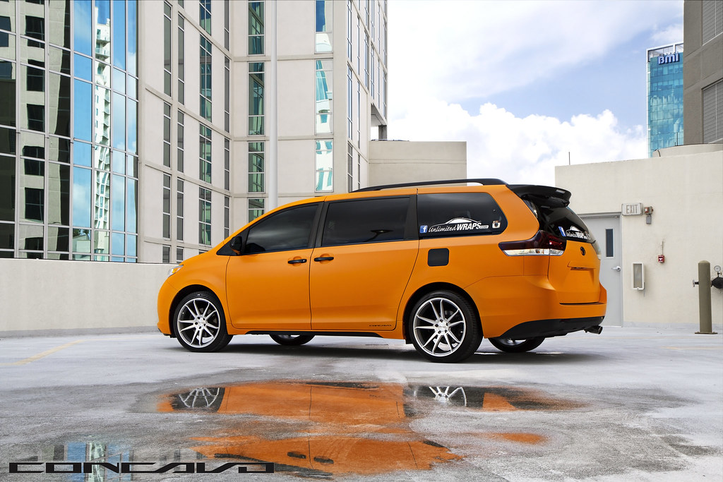 Toyota Of Orange >> Toyota Sienna wrapped Matte Orange on CW-S5 Matte Grey Mac ...