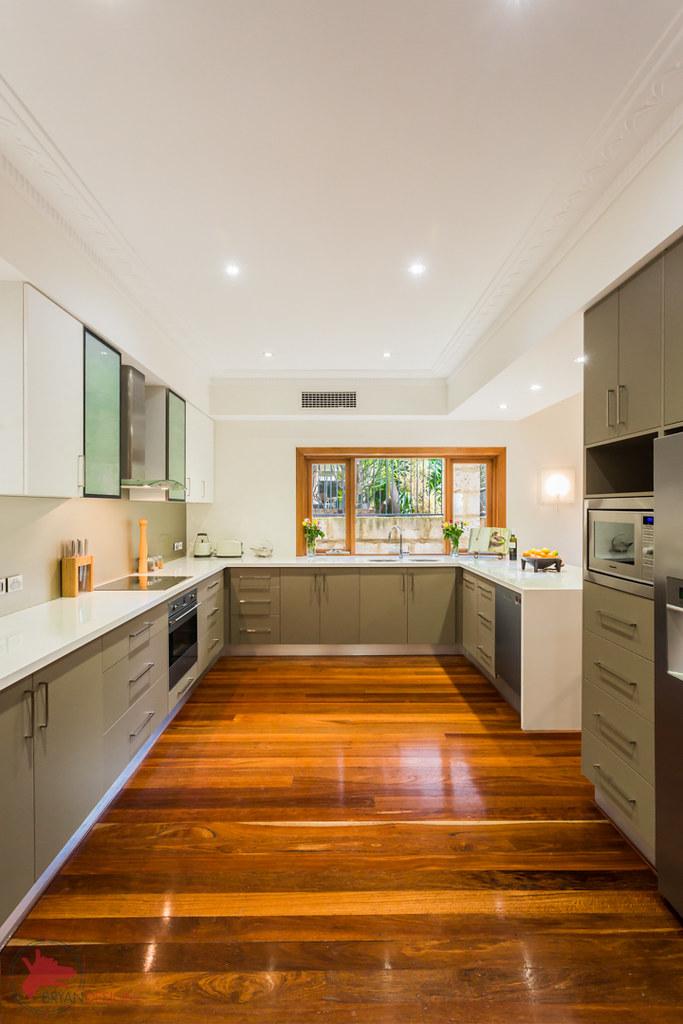 White Cabinets Kitchen Gray Walls