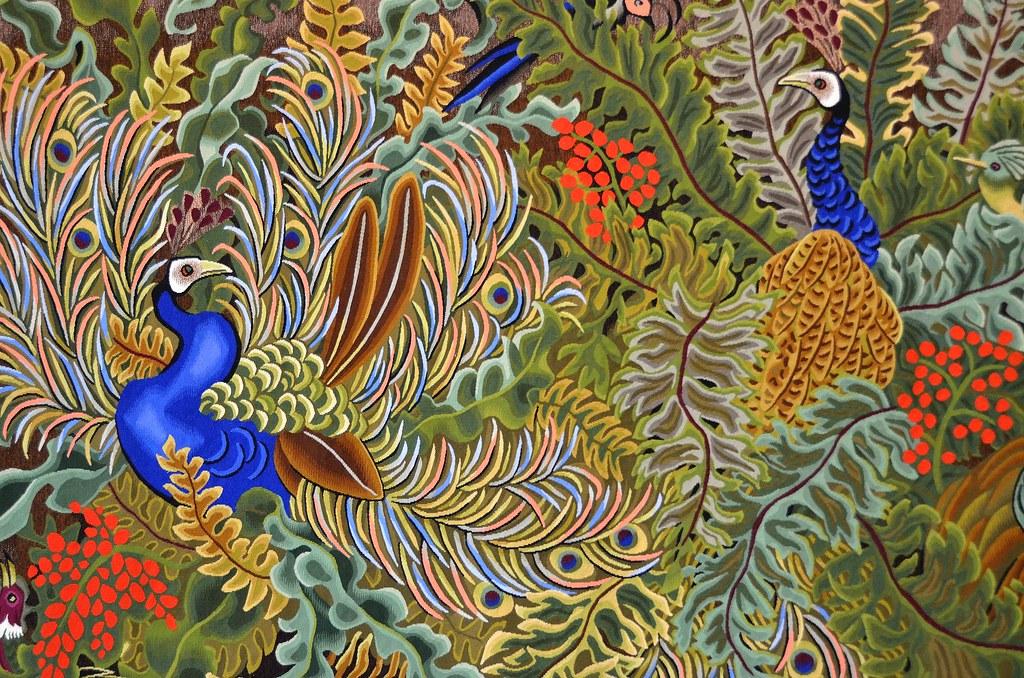 Tapisserie de dom robert scolopendres carton de 1969 - Galerie nationale de la tapisserie beauvais ...