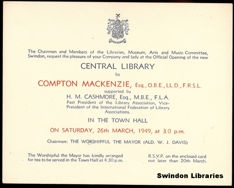 1949 invitation to the official opening of swindon centra flickr 1949 invitation to the official opening of swindon central library by local studies stopboris Gallery