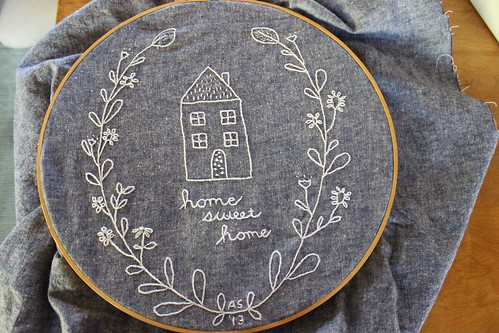 Home sweet home embroidery | by TajandMe