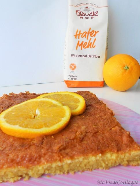 moelleux à l'orange sans gluten sans lactose