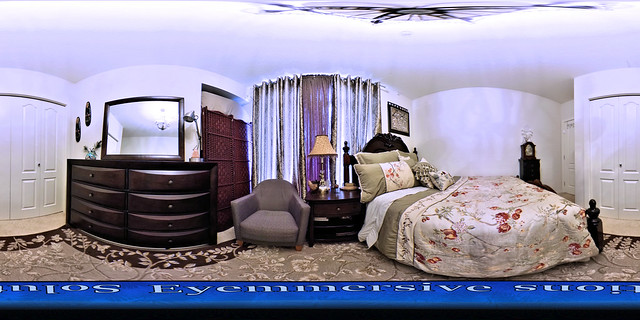 Real estate photography - 360 degrees virtual tour of guest bedroom