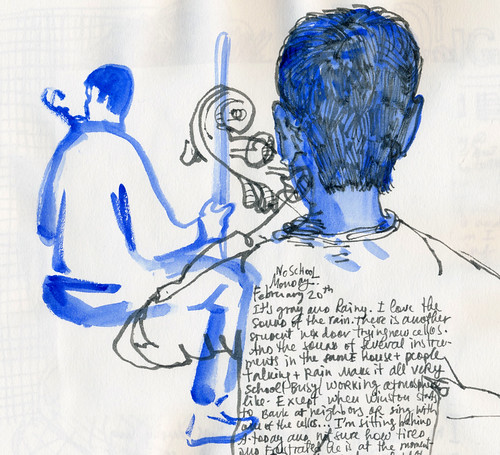 Sketchbook #103: Cello Practicing
