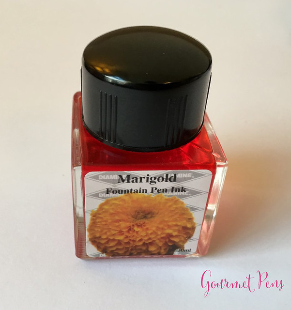 Ink Shot Review Diamine Flowers Marigold @AppelboomLaren 8
