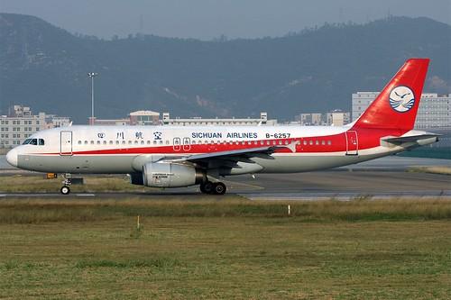 B-6257 A320 Sichuan Airlines SZX 20081207