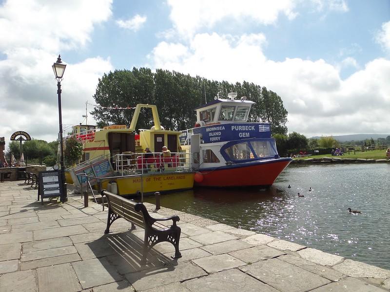 Tour boats at Wareham Quay