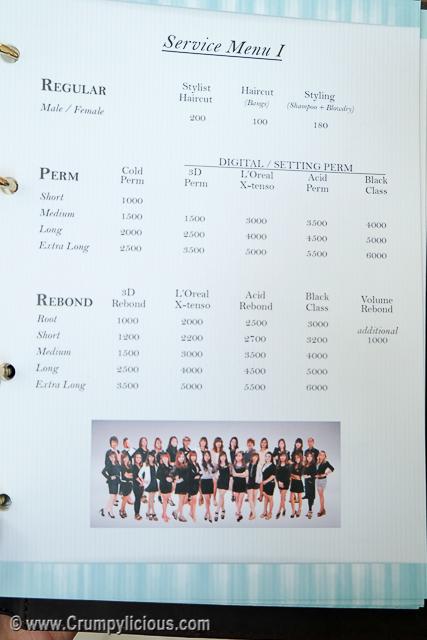 t&j professional service menu