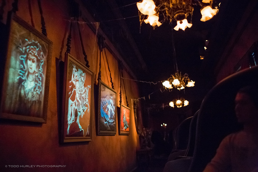 Creative Dark Ride Shooting The Haunted Mansion Portrait