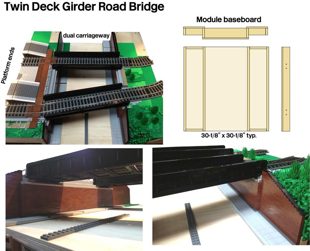 how to build a lego girder bridge