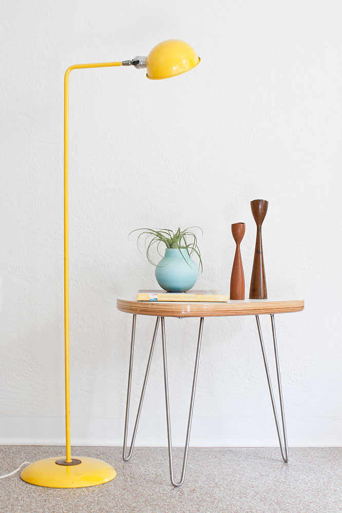 Vintage yellow floor lamp kimberly flickr for Macey floor lamp yellow