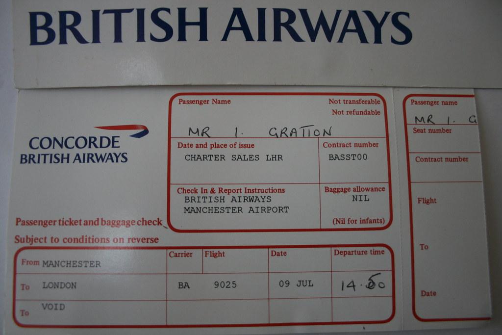 Concorde Ticketpreis