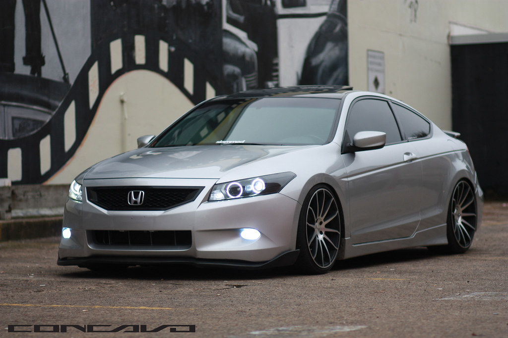 Custom Honda Accord >> Honda Accord Coupe | CW-12 | Matte Black Machined Face | | Flickr