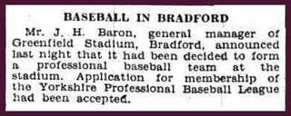 27th March 1936 - Baseball to be played at Greenfield Stadium, Bradford | by Bradford Timeline