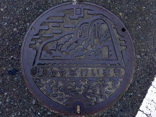 Honyabakei Oita, manhole cover (大分県本耶馬溪町のマンホール)