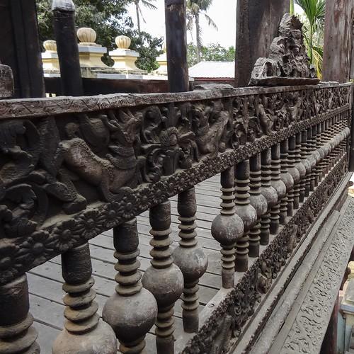 Carved railing