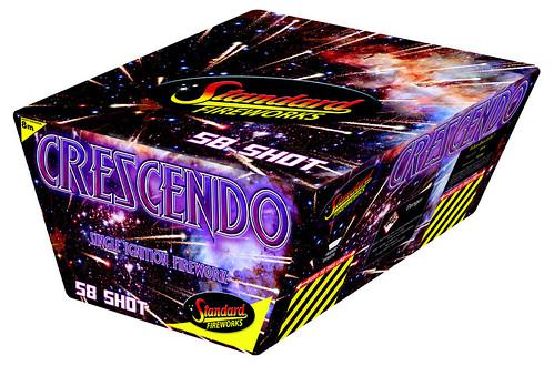 Crescendo 58 Shot SIB by Standard Fireworks