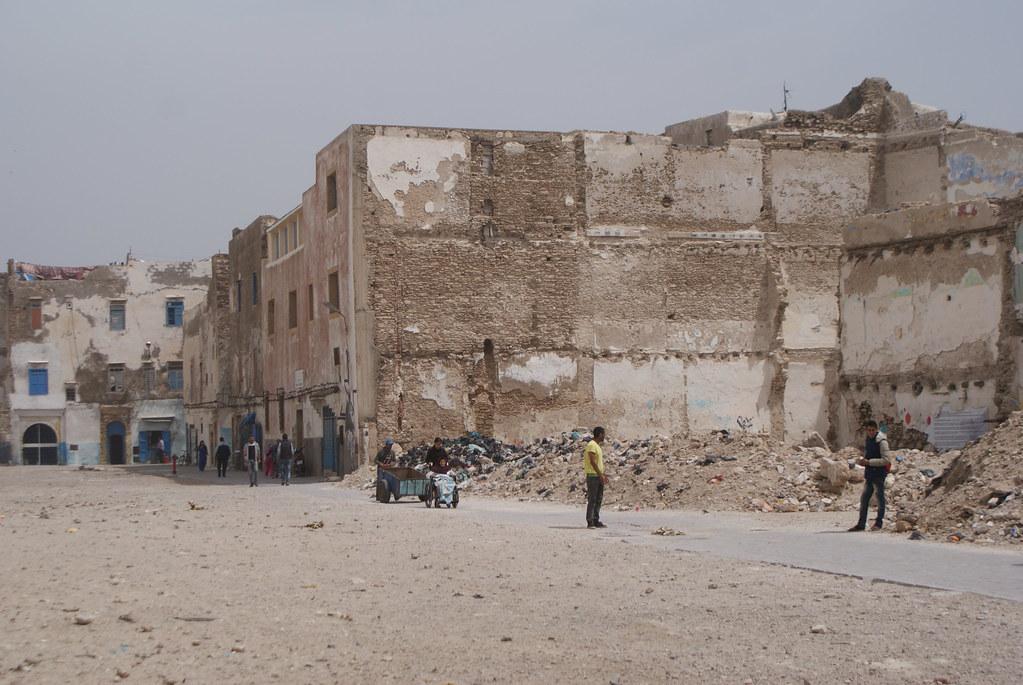 Ruines et no man's land du mellah à Essaouira.