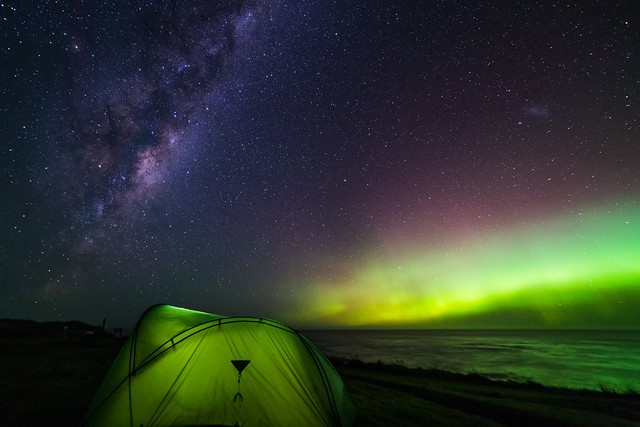 Aurora Australis at Waipapa point, Nz