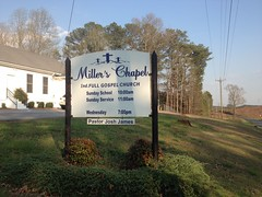 Millers Chapel Sign