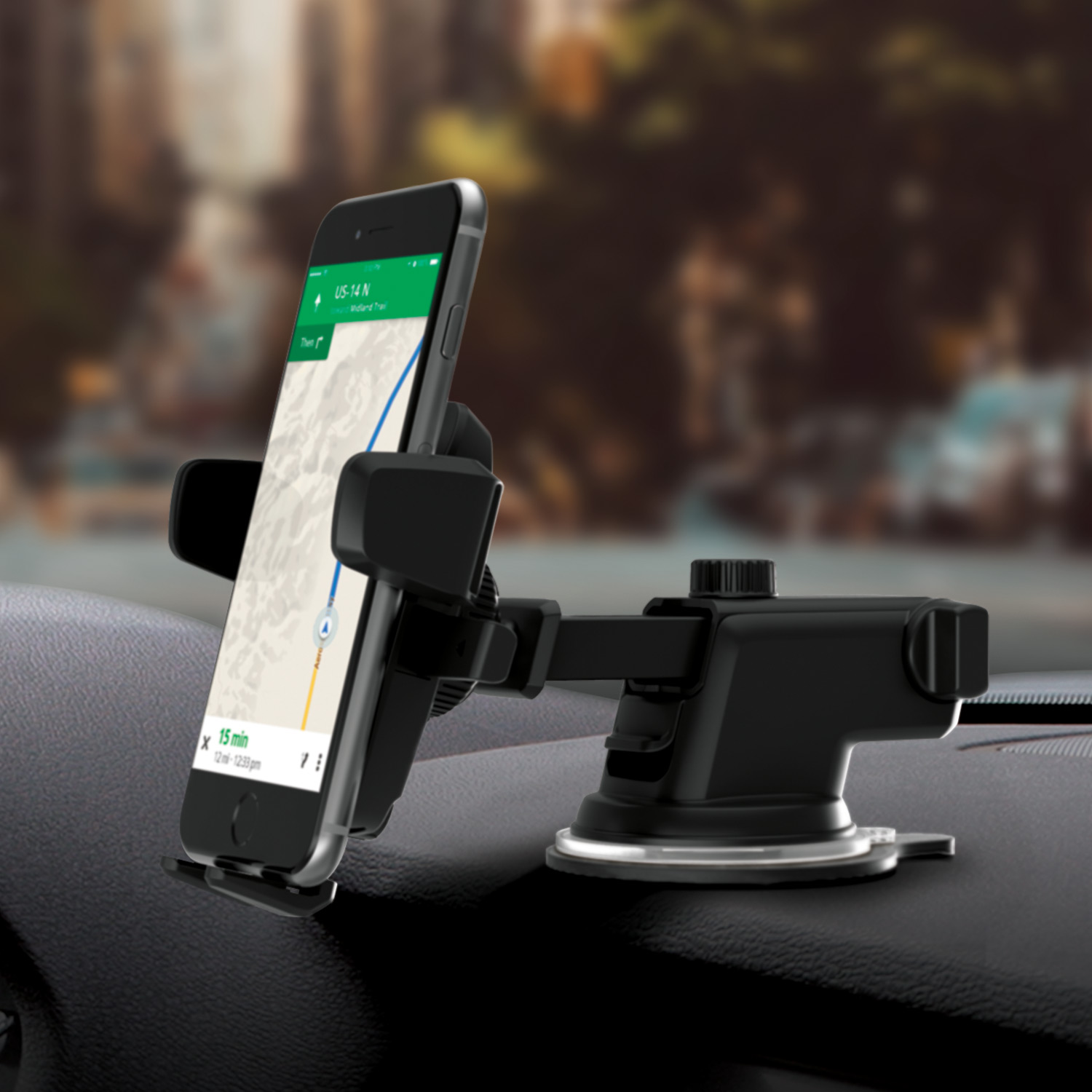 Iottie easy one touch 3 v2 0 car mount holder iphone x 8 8 7 7 galaxy s8 s8