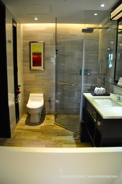 Bathroom at Deluxe Room at BE Grand Resort Bohol