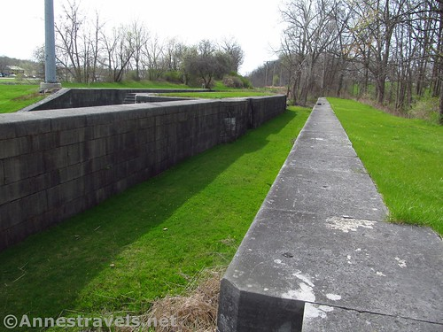 The west bound lock chamber at the Lock 60 Historic Site between Macedon and Palmyra, New York