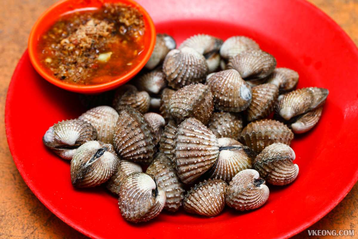 Boiled Cockles with Chili Sauce