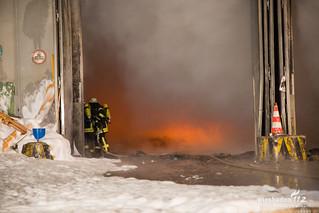 Lagerhallenbrand Heidenrod 20.04.17