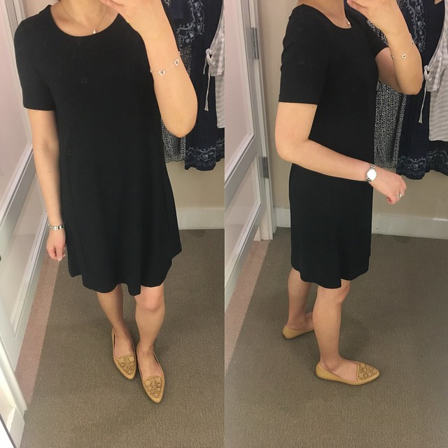 LOFT Short Sleeve Swing Dress, size XXSP