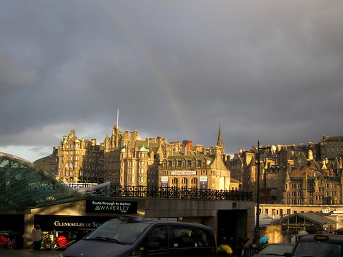 Rainbow over Edinburgh Waverley