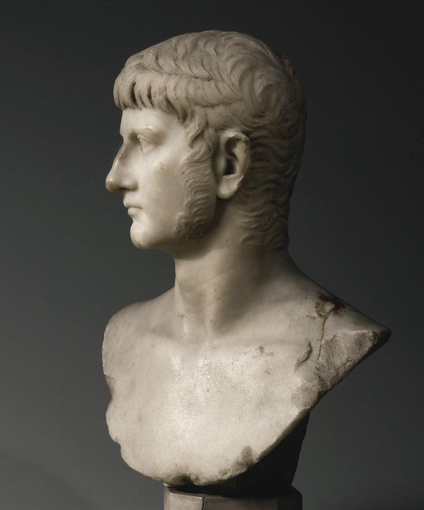 A Marble Portrait Bust Of Germanicus Roman Imperial Juli