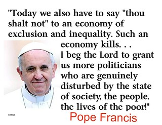 Pope Francis rips capitalism and trickle-down economics
