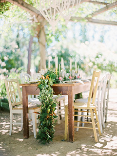 Side of Dinner Table for the Notebook Inspired Photo Shoot | by Sweet Lauren Cakes