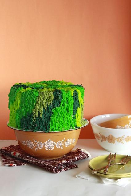 Groovy Green Cake