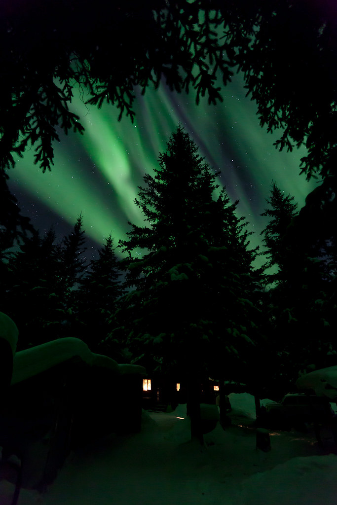 030117 - Early Evening Aurora over the Cabin