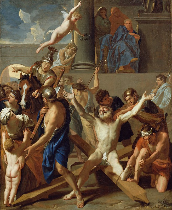 Charles Le Brun - The Martyrdom of St. Andrew (c.1646)