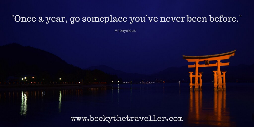 "Travel quotes - Inspirational travel quotes ""Once a year, go someplace you've never been before."" – Anonymous"