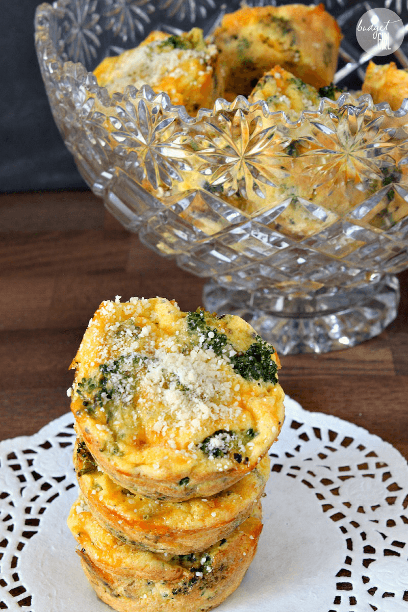 Broccoli and Cheese Egg Muffins Make-Ahead Breakfast