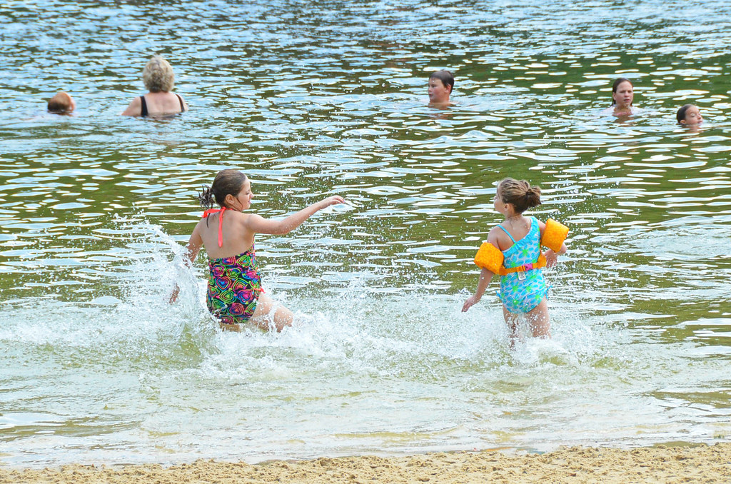 Kids Swimming In A Lake kids running into water at lake swimming beach hungry moth… | flickr