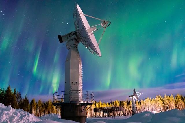 Sodankylä 7.3 m satellite antenna