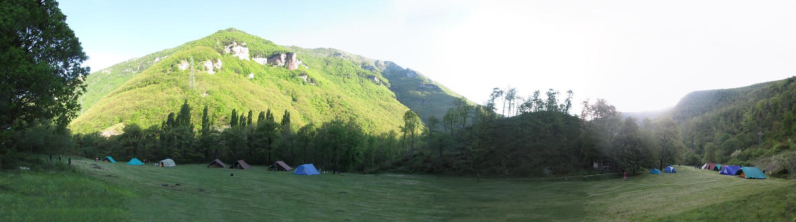 Panorama CRB sottocampi Alfa e Vega