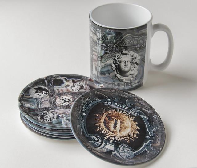 Round coaster and mug