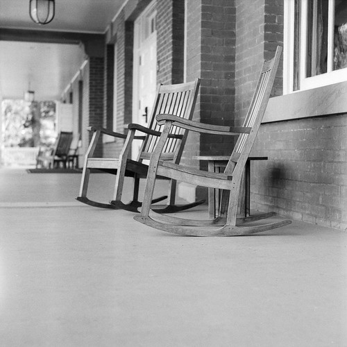 Chairs on the front porch of the Inn at the Presidio | by morozgrafix