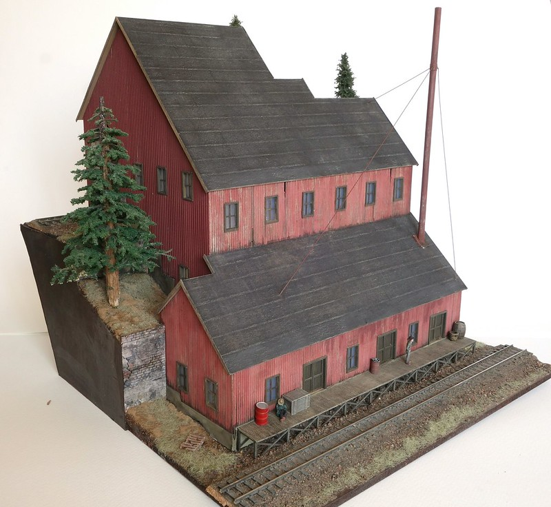 3D Printed Colorado Stamp Mill In HO