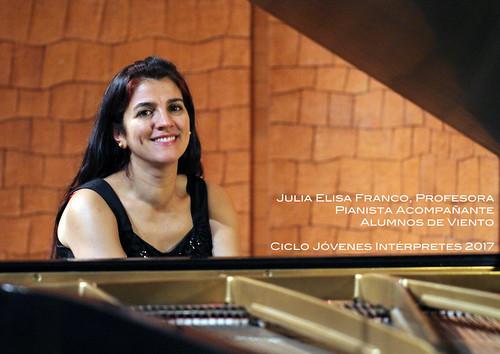 JULIA ELISA FRANCO, PROFESORA PIANISTA ACOMPAÑANTE - CICLO JÓVENES INTÉRPRETES DEL CONSERVATORIO DE LEÓN 2017